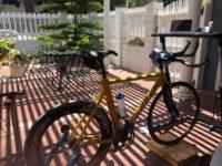 time trial bike with Wahoo Desk