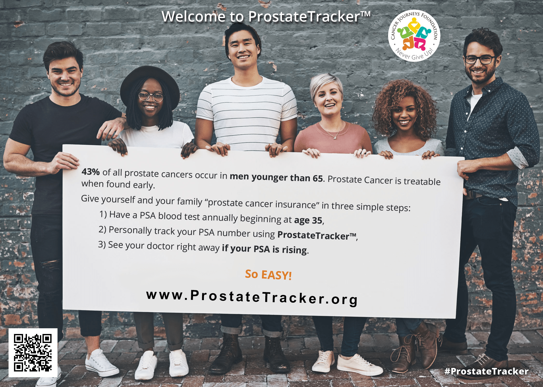 Picture of the landing page for the prostate tracker early detection systems