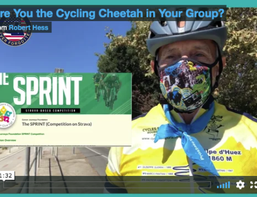 Win a Cycling Sprint Champion Jersey and Help Cancer Survivors