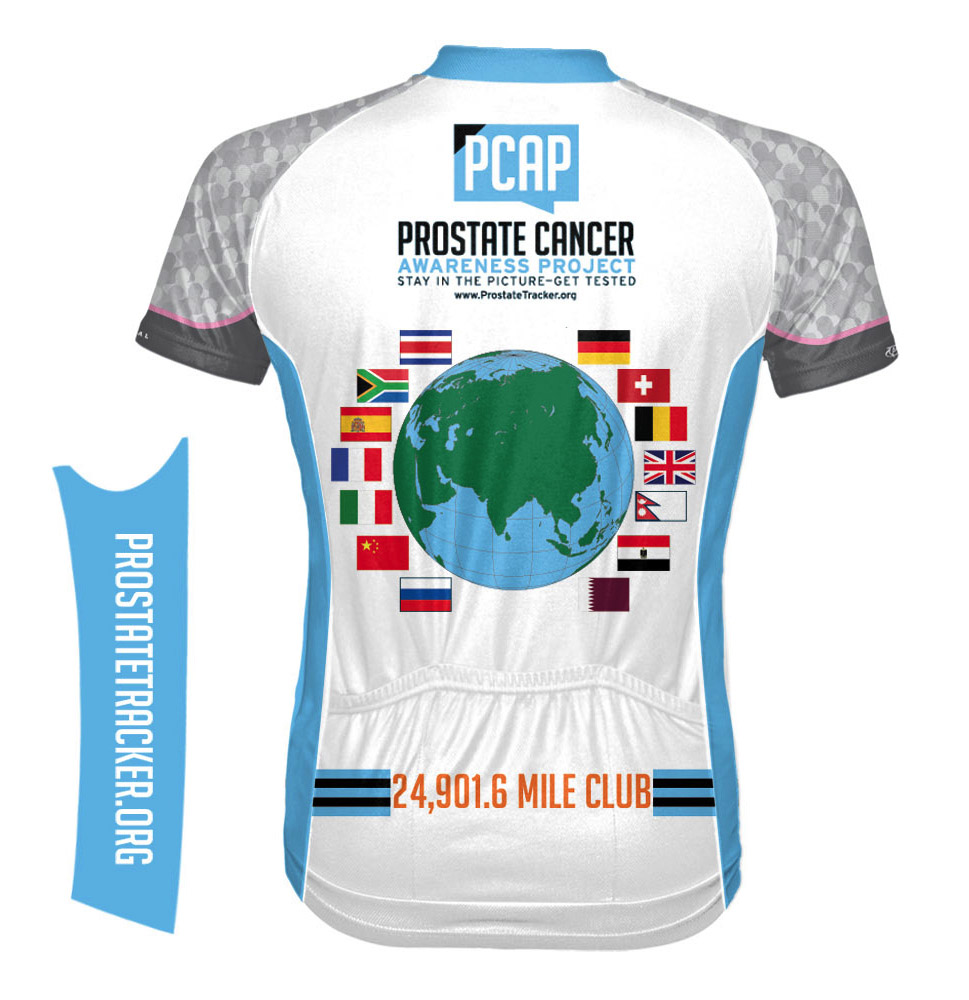 Prostate Cancer Mileage Jersey Back