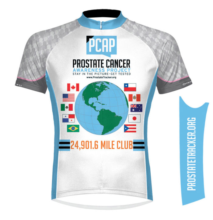 Prostate Cancer Mileage Jersey Front